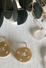 PIKA&BEAR Pika & Bear Earrings 'Anemoi' Silhouette Compass Studs