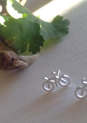 PIKA&BEAR Pika & Bear Earrings 'Fixie' Tiny Bicycle Studs