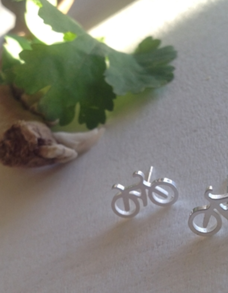 PIKA&BEAR Pika & Bear Earrings 'Fixie' Tiny Bicycle Studs