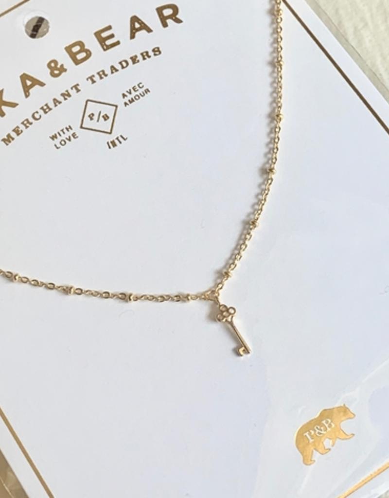PIKA&BEAR Pika & Bear Necklace 'Minerva' Tiny Key Charm