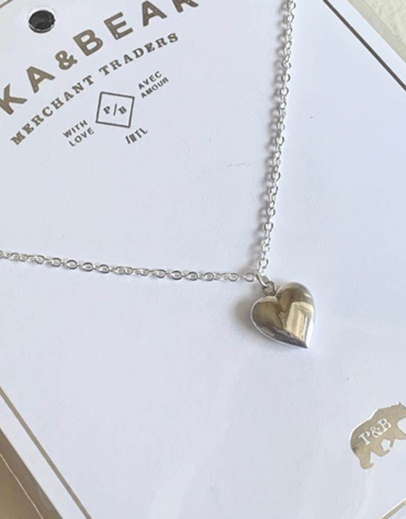 PIKA&BEAR Pika & Bear Necklace 'Total Eclipse of the Heart' Tiny Heart Locket