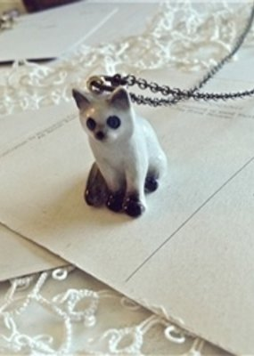 PIKA&BEAR Pika & Bear Necklace 'Akela' Porcelain Kitty Pendant