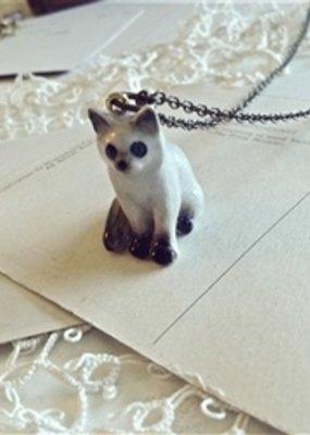 PIKA&BEAR Pika & Bear Necklace 'Akela' Porcelain Kitty Pendant