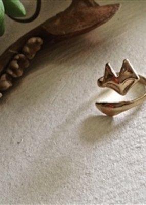 PIKA&BEAR Pika & Bear Ring 'Foxy' Adjustable Gold Plated