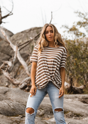 JACKSON ROWE Jackson Rowe The Stripe Knotty Tee