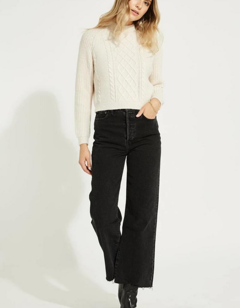 GENTLE FAWN Gentle Fawn Preston Sweater Mockneck Slim Fit w/ Cable Detail