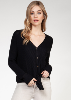 DEX Dex Top L/Slv V Neck Buttondown F'20