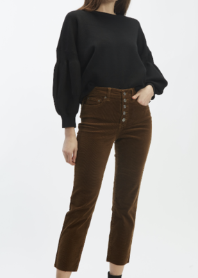 OAT NY OAT NY Top Slight Cropped Balloon Slvd Sweater F'20