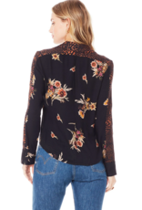 Saltwater Luxe Saltwater Luxe The Braxton Blouse L/Slv Floral/Animal Print W'20