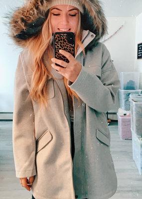 BB DAKOTA BB Dakota Jacket Hood w/ Faux Fur & Pockets W'20