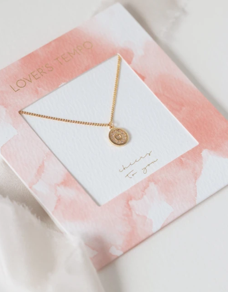 Lovers Tempo Lovers Tempo Cheers to You Pave Circle Necklace