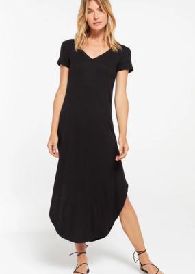 ZSUPPLY Z Supply Dress The Ribbed Reverie Handkerchief Midi