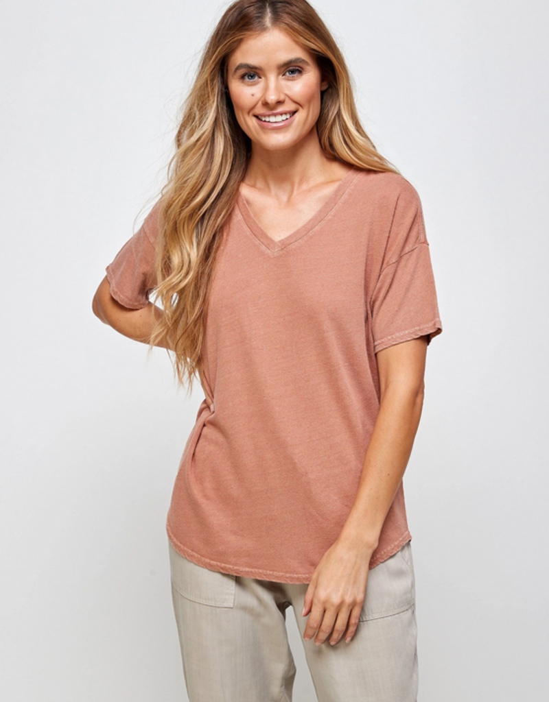 Thread and Supply CABIN Distancer Tee S/Slv V Neck
