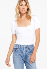 ZSUPPLY Z Supply Bodysuit The Ribbed Lucy w/ Puff S/Slv