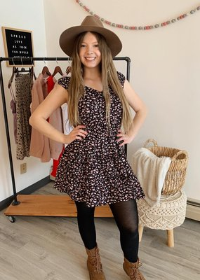 Sadie & Sage 'Piper' Cap Slv Tiered Mini Dress