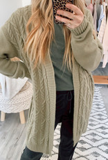 Wishlist CABIN Bianca Open Cable Knit Cardigan