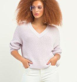 DEX L/Slv Textured Lavender V-Neck Sweater
