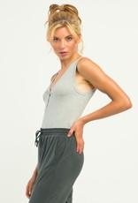 DEX Ribbed Soft Henley Bodysuit