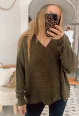 Wishlist CABIN Camille V Neck Knit Sweater L/Slv