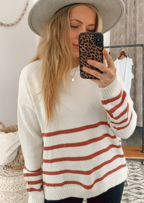 Wishlist CABIN Franki L/Slv w/ Buttons Striped Sweater