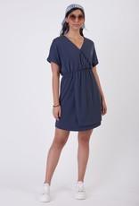 Black Tape Simple Knit Wrap Dress