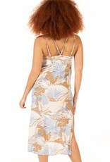 Black Tape Printed Island Jungle Maxi Dress