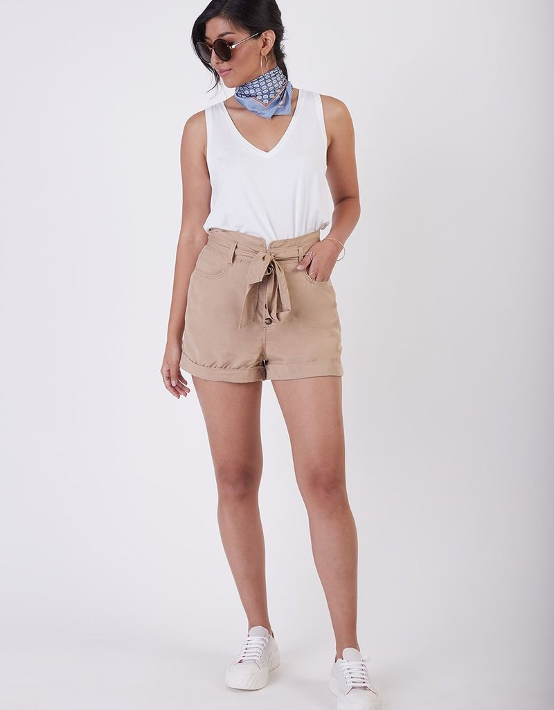 Black Tape High Rise Belted Tie-Waist Shorts