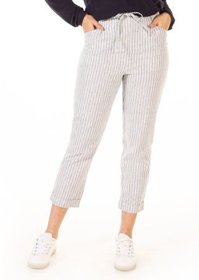 Black Tape High Rise Elastic Waist Pinstripe Pants