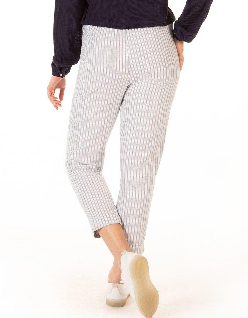 Black Tape High Rise Elastic Waist Pinstripe Pants