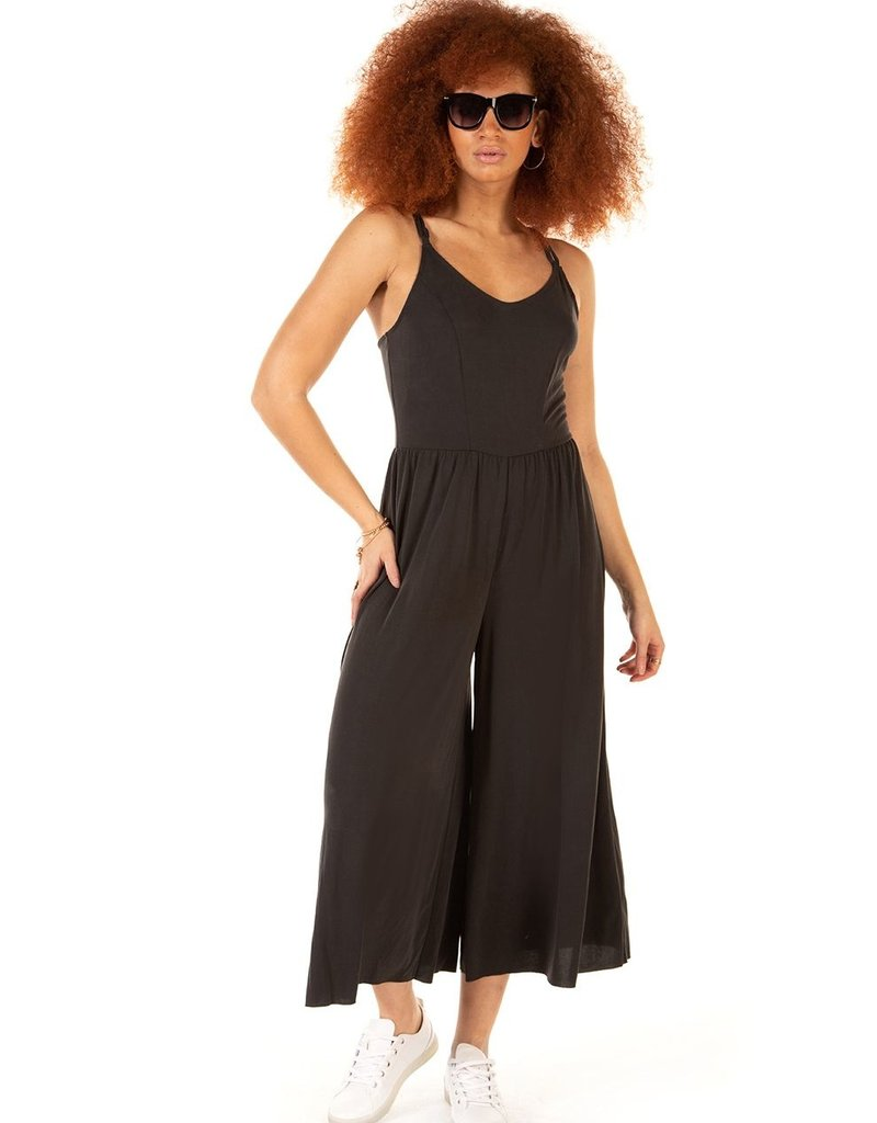 DEX Panelled Wide Leg Jumpsuit