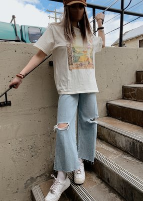 Etica Etica Denim Devon High Rise Distressed Crop