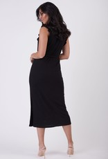 Black Tape Black Tape Dress Adriana Ruffle Detail Knit Maxi
