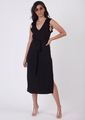 Black Tape Black Tape Dress Adriana Ruffle Detail Knit Maxi