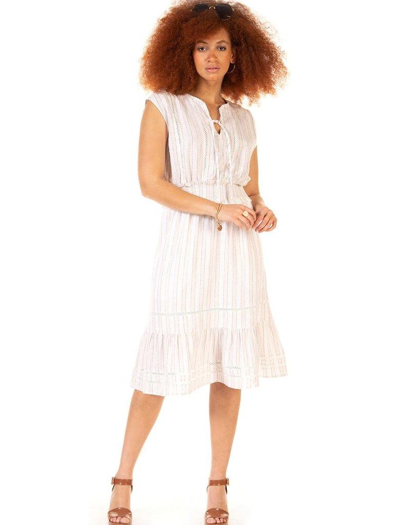 Black Tape Black Tape Dress Carolina S/Less Crochet Detail Midi