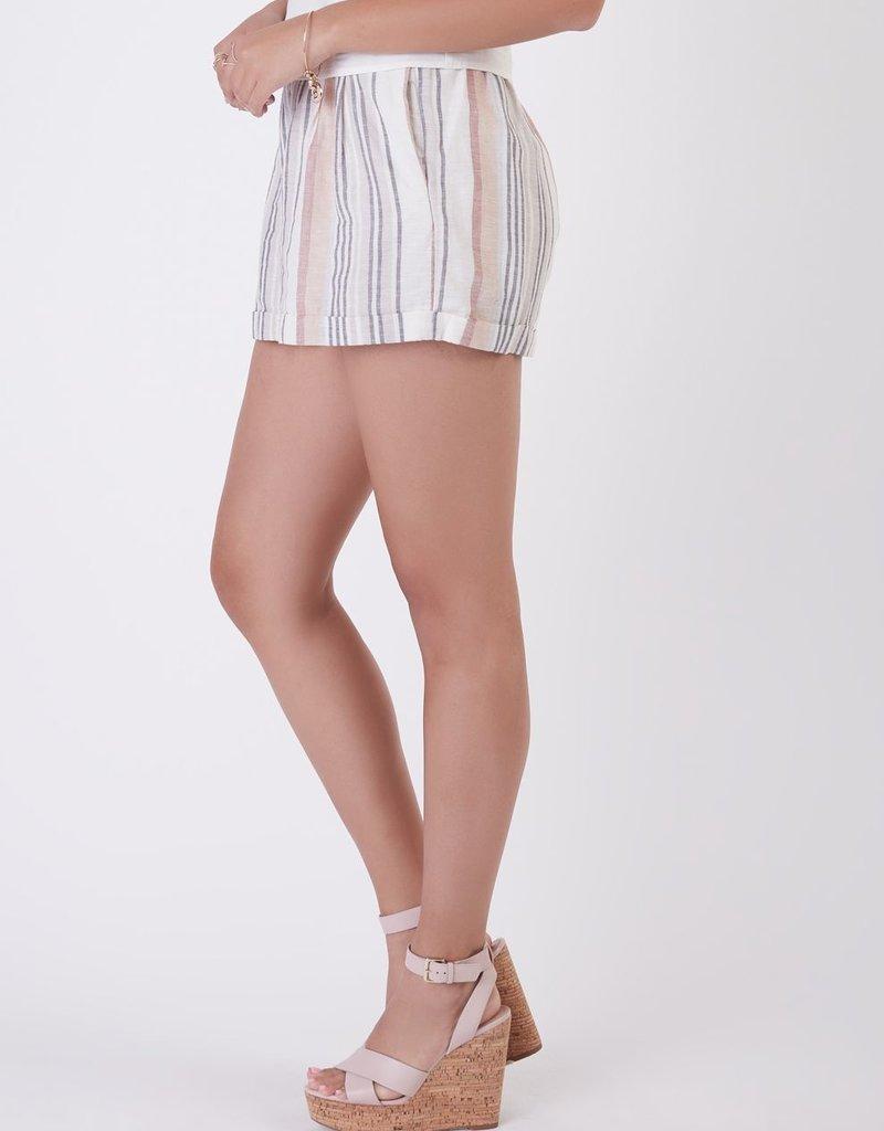 Black Tape Black Tape Shorts Gatsby Elastic Back Linen