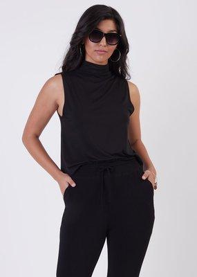Black Tape Black Tape Top Vienna S/Less Mockneck Knit Basic