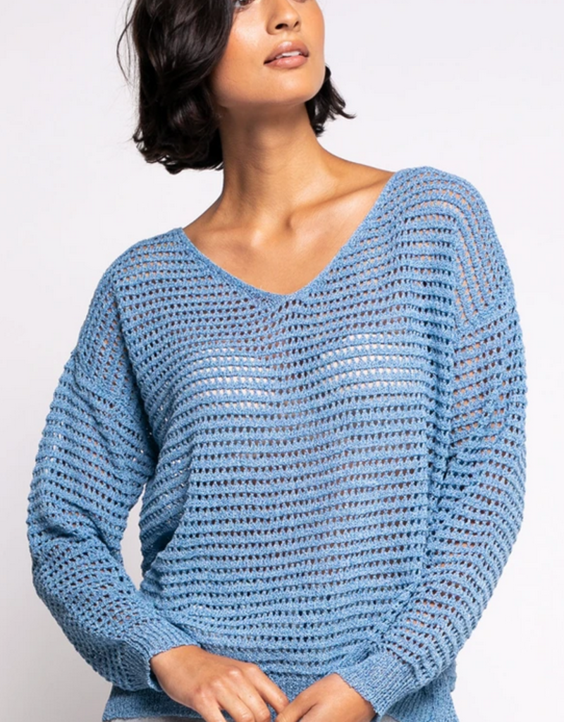 PINK MARTINI Pink Martini Sweater The Gretta Relaxed V Neck
