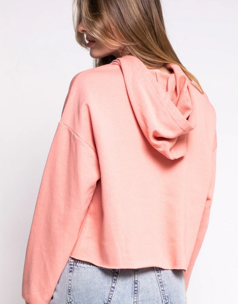 PINK MARTINI Pink Martini The Mary Jane Cropped Hoodie