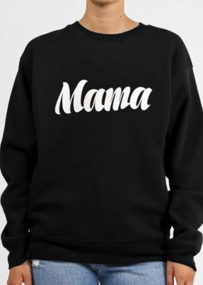 BRUNETTE BRUNETTE 'Mama' Cursive Core Crew