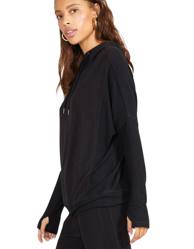BB DAKOTA BB Dakota Hoodie Hang Back Rib Knit L/Slv