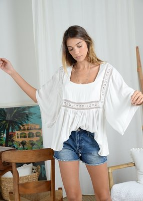 Molly Bracken Molly Bracken Blouse Carrieanne Retro Flowy S/Slv