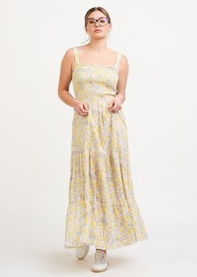 DEX Dex Dress Penelope Smocked Detail Tiered Maxi
