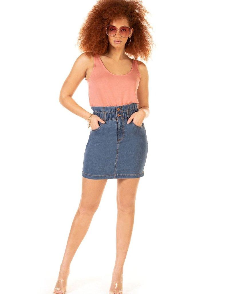 DEX Dex Skirt Jesse Elastic Paperbag Waist Mini