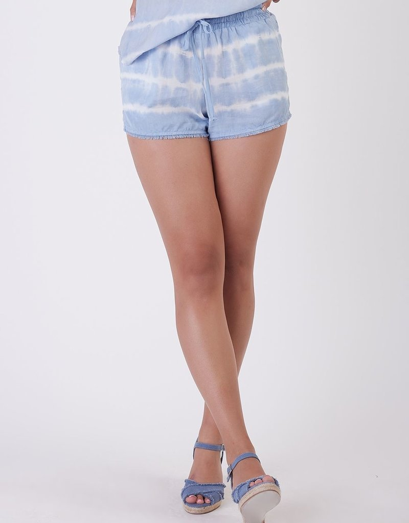 DEX Dex Lindsey Frayed Hem Tie Dye Shorts