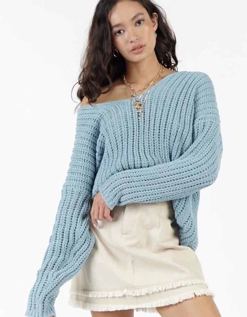 Sadie & Sage Sadie & Sage Sweater 'Buzz' L/Slv V Neck Pull Over