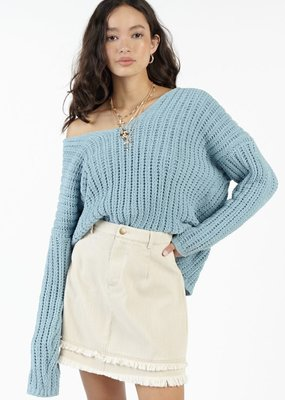 Sadie & Sage Sadie & Sage Sweater 'Buzz' L/Slv V Neck Pull Over