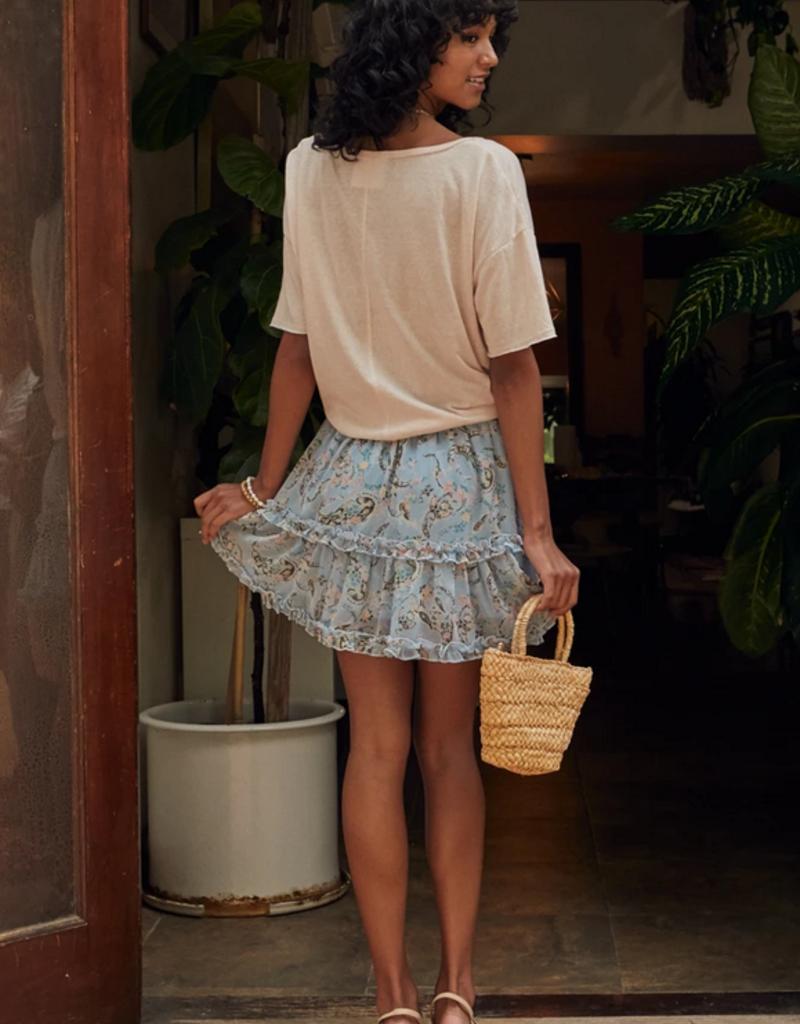 Sadie & Sage Sadie & Sage 'Soft Kiss' Ruffle Detail Mini Skirt