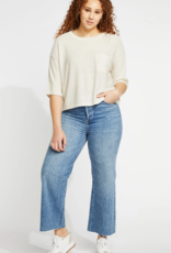 GENTLE FAWN Gentle Fawn Top Delta 1/2 Slv Cropped Relaxed Fit