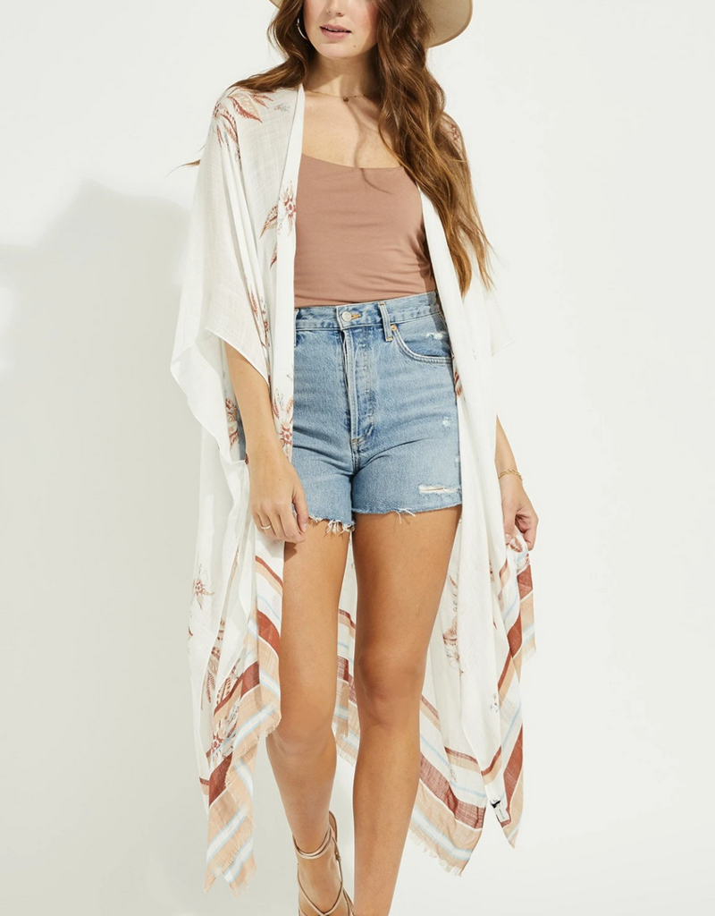 GENTLE FAWN Gentle Fawn Kimono Mosaic Cover Up
