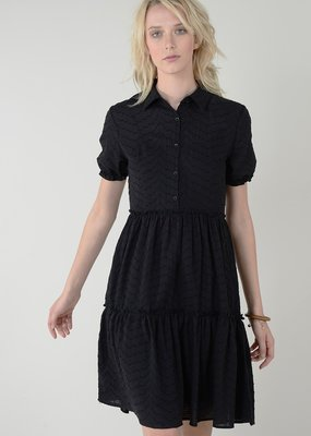 Molly Bracken Molly Bracken Dress Tanya Collared S/Slv w/ Slip Midi